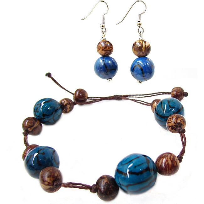 Rio Truffle Bracelet and Earring Set (Colombia)