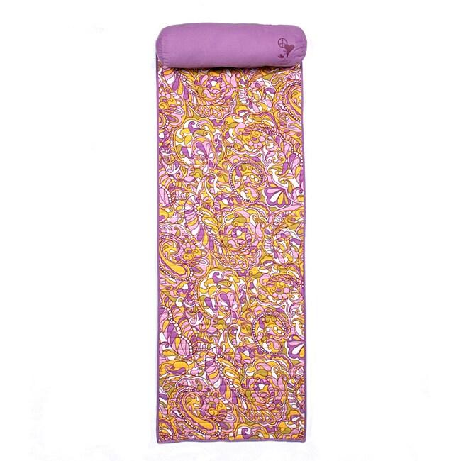 Steve Madden 66-inch Cotton/Polyester Modern Paisley Roll-up Beach Mat