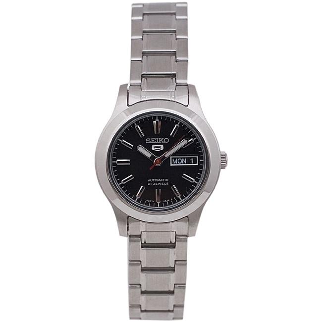 Seiko Women's SYMD95 Seiko 5 Watch, Black, Size One Size ...