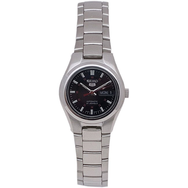 Seiko Women's SYMC27 Seiko 5 Watch, Black, Size One Size ...