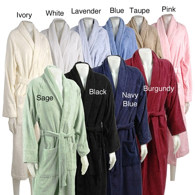 Superior Collection Luxurious Egyptian Cotton Unisex Terry Bath Robe - Large