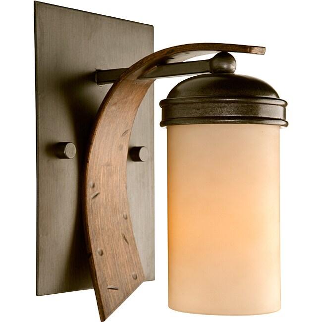 Varaluz Aizen 1-light Tan Opal Bath Light
