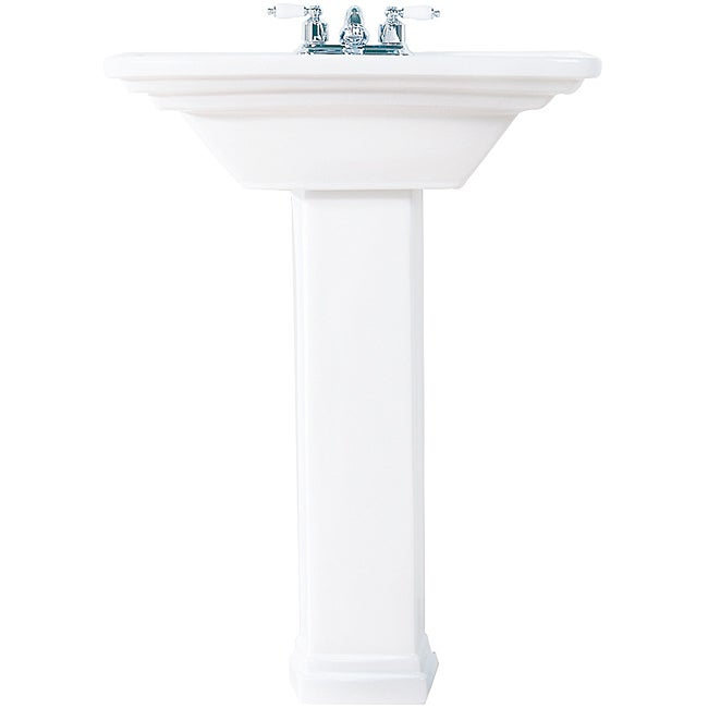Decolav Vitreous China Square Pedestal Sink