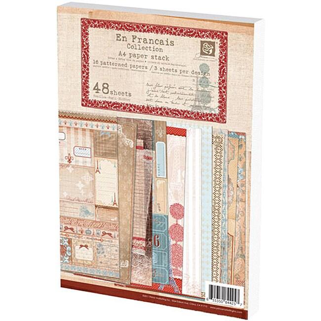 Prima Flowers 'En Francais' A4 Paper Stack (48 sheets)