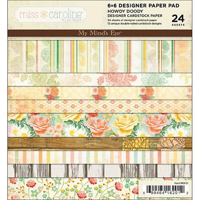 Miss Caroline Howdy Doody 6x6-inch Paper Pad (24 Sheets)