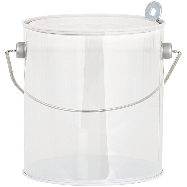 Large Plastic 'White Lid' Paint Can