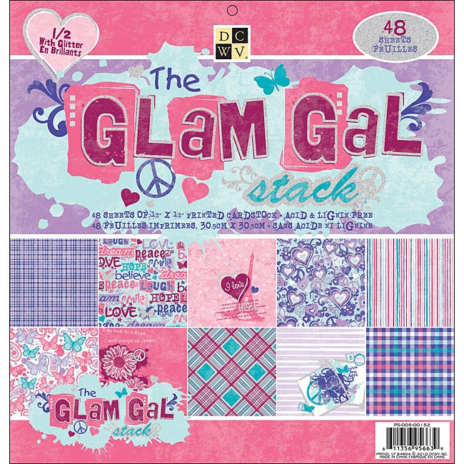 Glam Gal Paper Stack (Set of 48 Sheets)