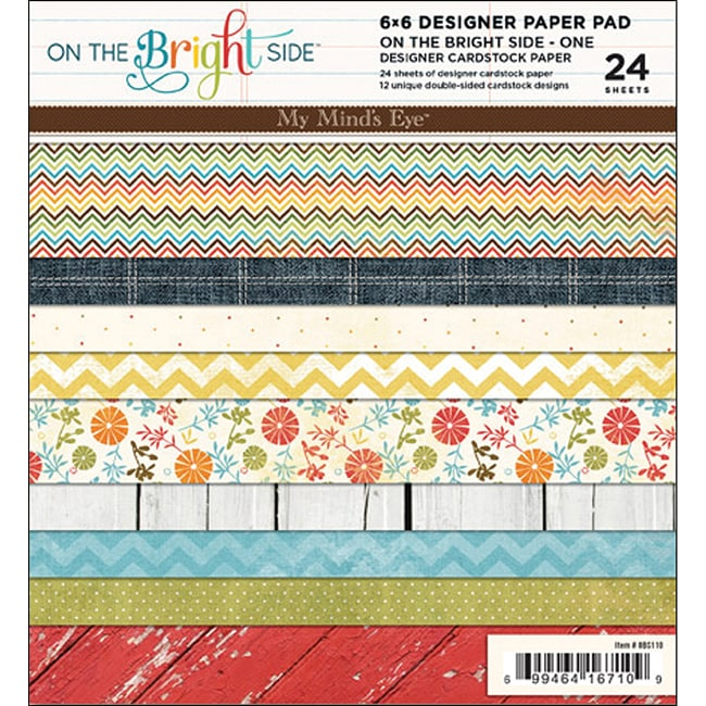 'On The Bright Side' Paper Pad (Set of 24 sheets)