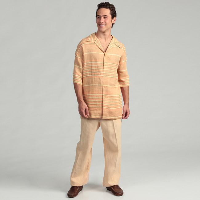 Shop Ferrecci Men's Two-piece Linen Walking Suit