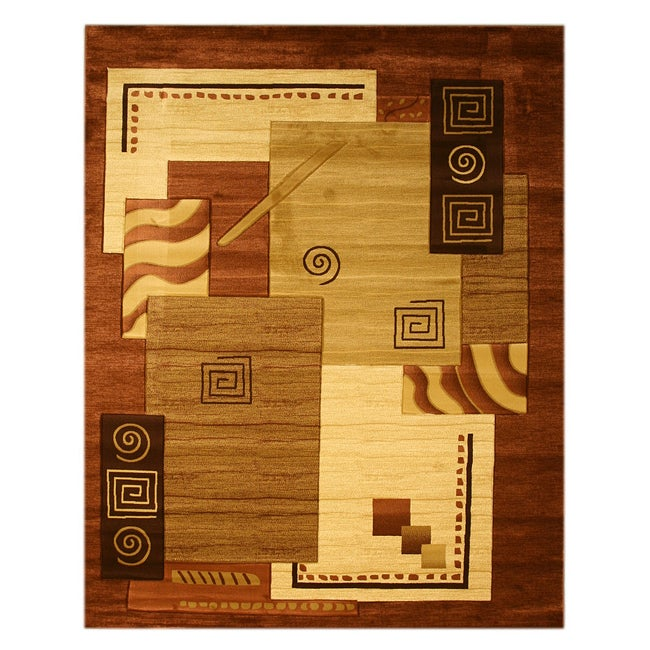 Hand-carved Modern Design Lotus Ivory Rug (5'3 x 7'3) - Thumbnail 0