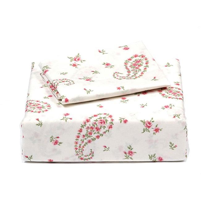 Laura Ashley Bristol Paisley Cotton 4-piece Queen-size Sheet Set