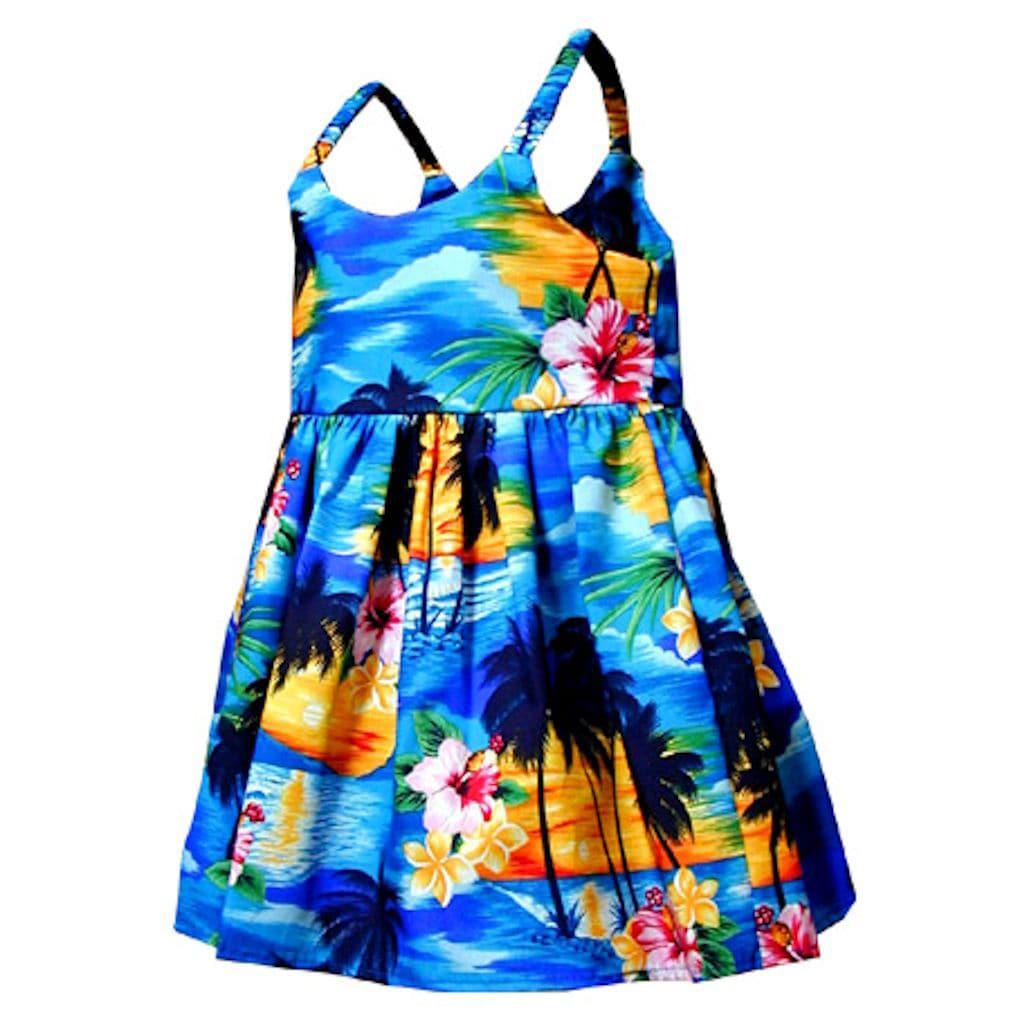Tropical Paradise Girls Bungee Strap Dress