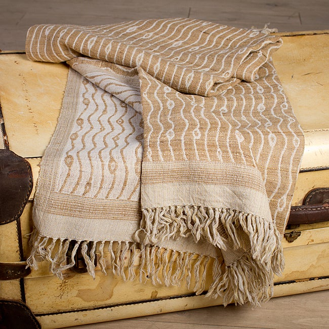 Riverbed Silk and Wool Throw (India)