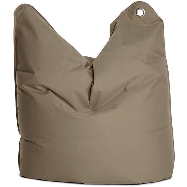 Sitting Bull Medium Bull Grey Brown Bean Bag Chair
