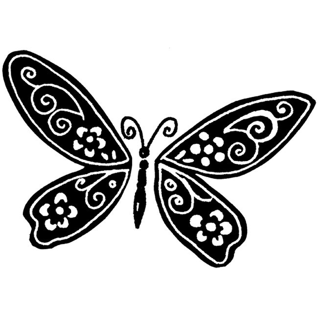 Penny Black 'Shadow Wings' Rubber Stamp