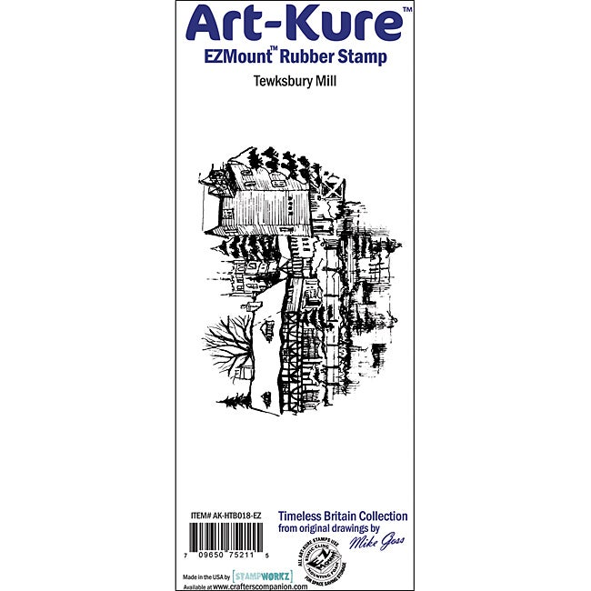 Art-Kure 'Tewksbury Mill' EZMount Cling Stamp