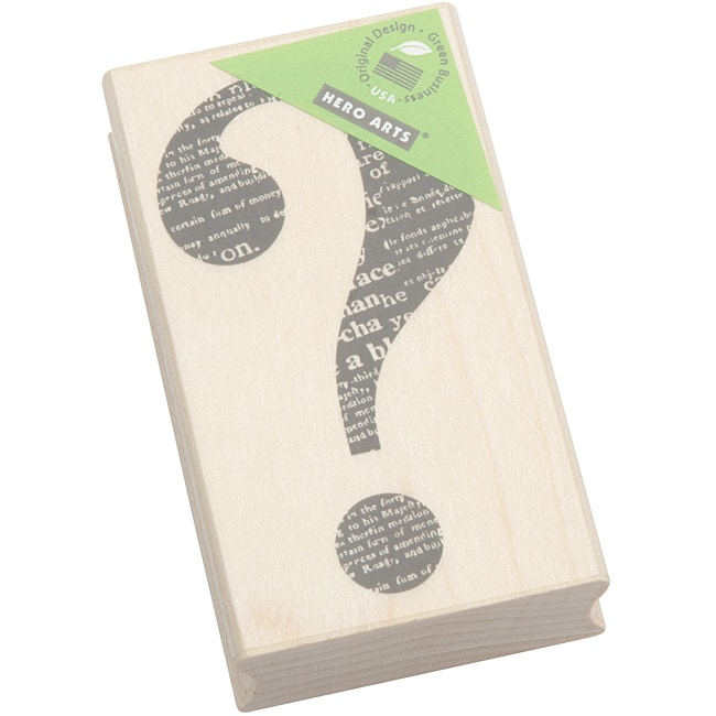Hero Arts Question Mark Mounted Rubber Stamp - Free ...