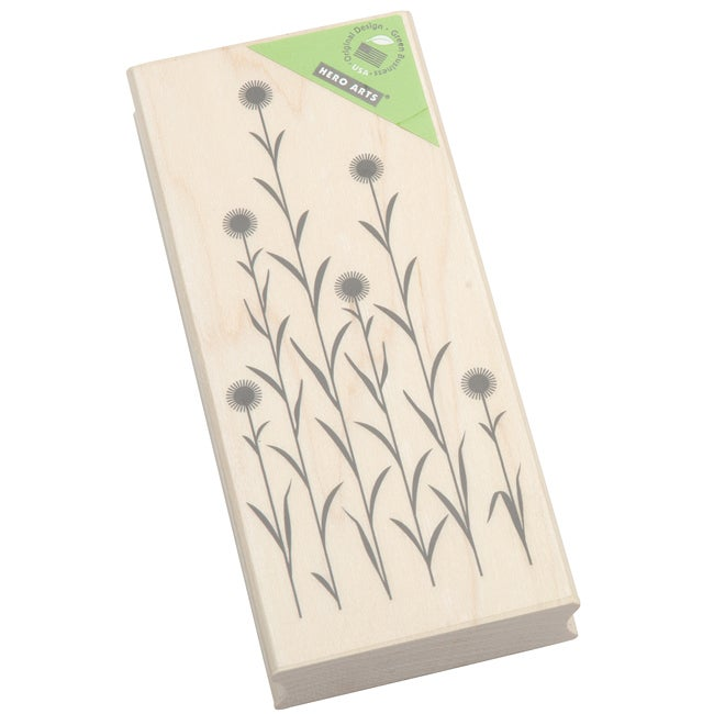 Hero Arts Tall Circle Flowers Mounted Rubber Stamp