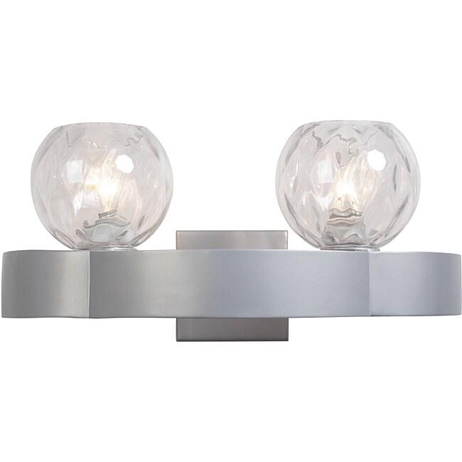 Varaluz Covenant Clear Iridescent Glass 2-light Bathroom Fixture