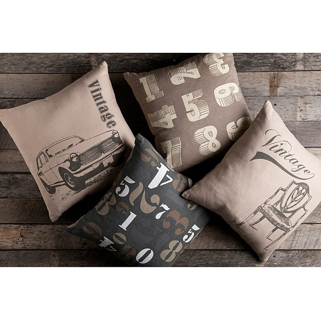 Vintage Decorative 18-inch Pillows (Set of 4) - Thumbnail 0