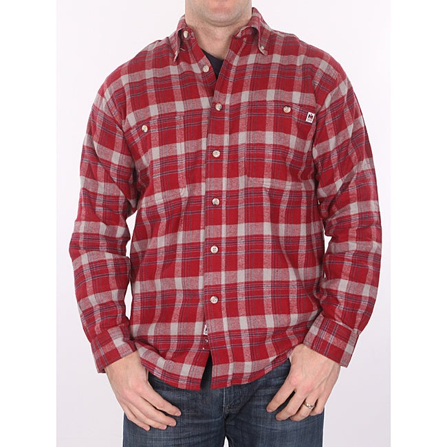 Farmall IH Men's Big/Tall Red Plaid Flannel Shirt - Thumbnail 0