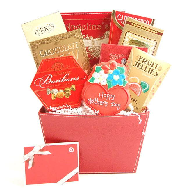 Mother's Day Cheer Deluxe Gift Basket with $20 Gift Card