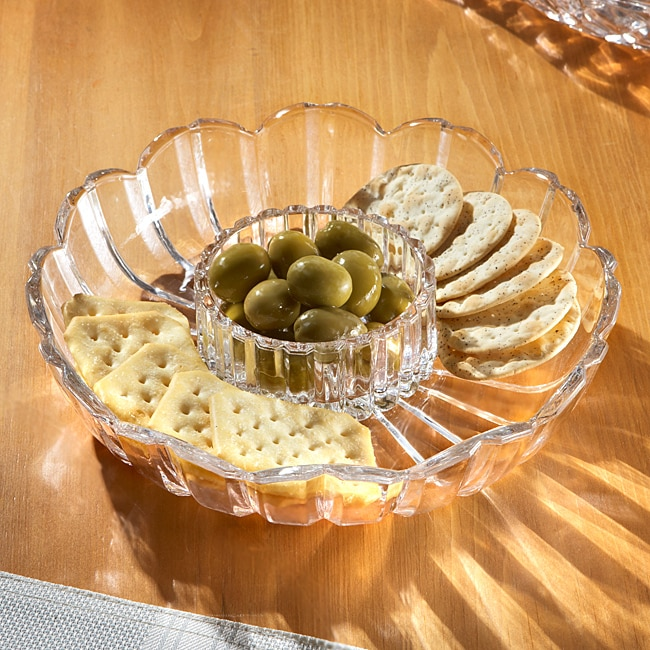 Crystal Clear Alexandria Cheese and Cracker Tray