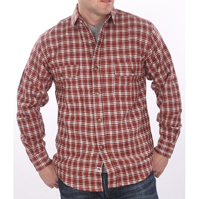 Farmall IH Men's Big/ Tall 'Brawny' Red Plaid Flannel Shirt