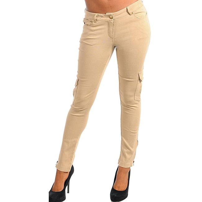 Stanzino Women's Plus Size Taupe Casual Pants