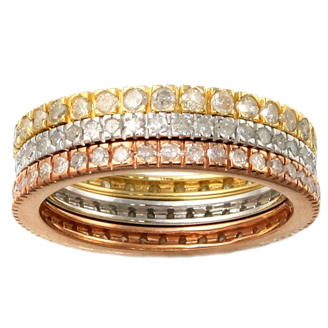 Beverly Hills Charm 14k Gold 1ct TDW Diamond Eternity Band Set (H-I, I2-I3)