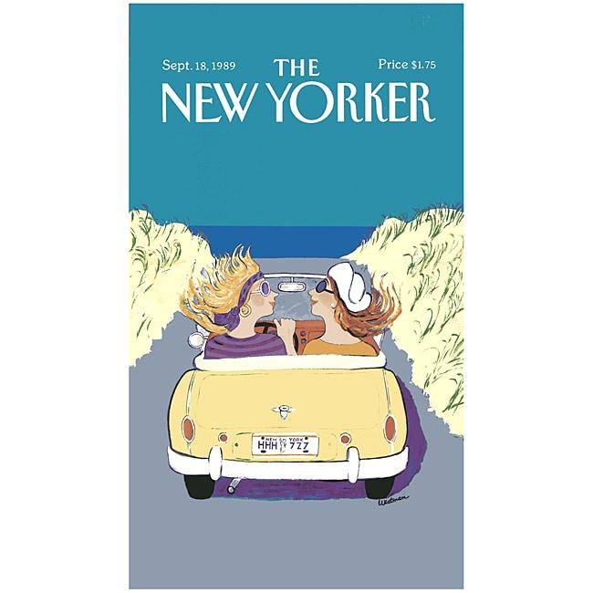'New Yorker Girlfriends Cruising' Cotton Beach Towel