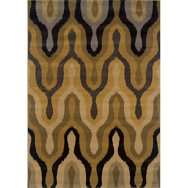 gold black transitional area rug 7 39 8 x 10 39 10 free shipping today