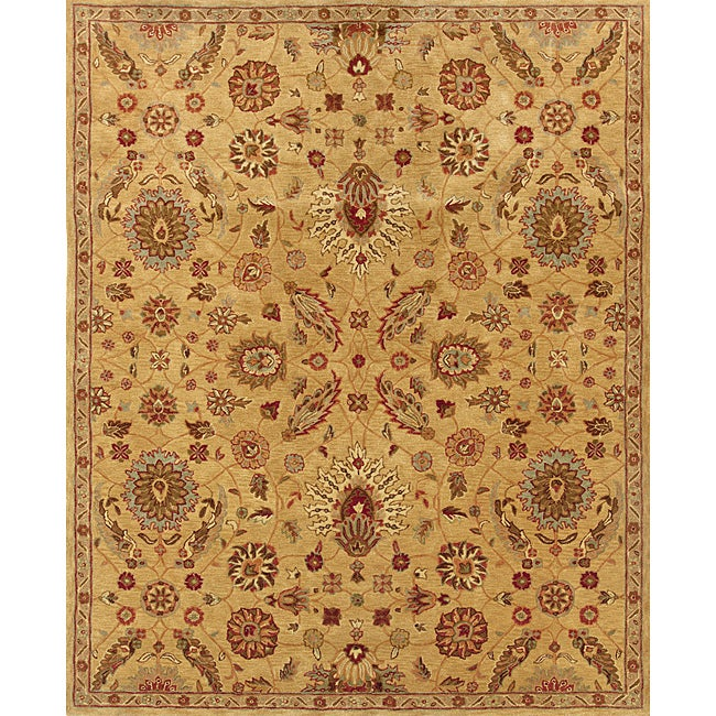 Evan Gold/ Rust Traditional Area Rug (3'6 x 5'6)