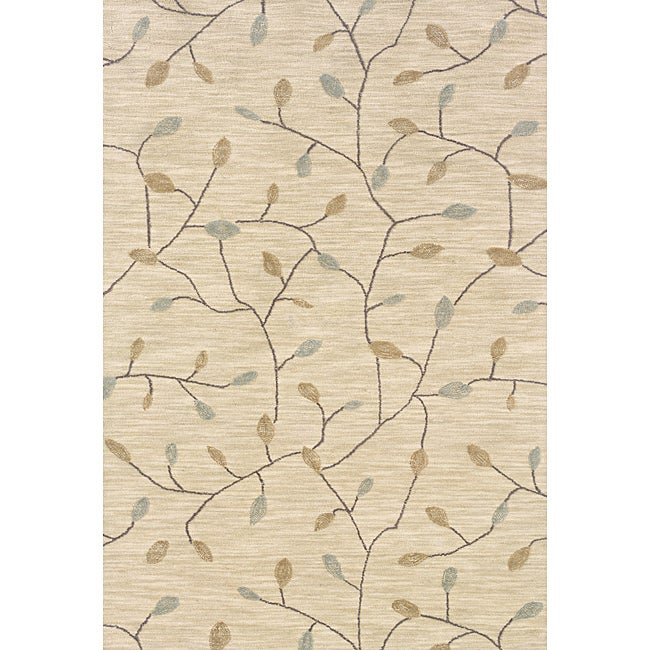 Solano Beige/ Gold Transitional Area Rug (3'6 x 5'6)