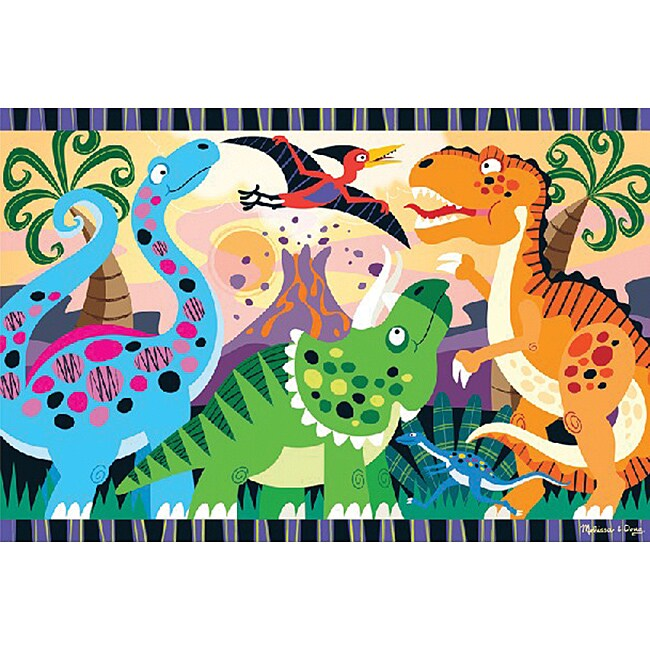 Floor Jigsaw Puzzle-Dinosaur Dawn 24 Pieces