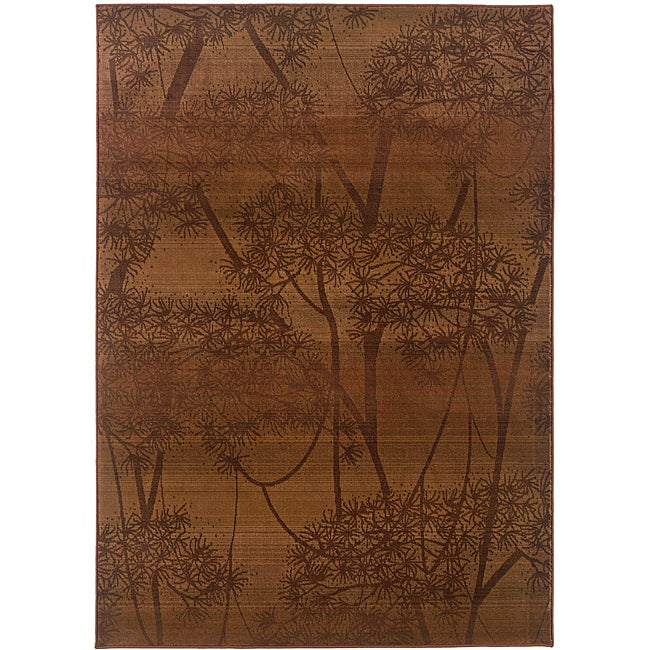 Sydney Rust/ Red Transitional Area Rug (9'9 x 12'2)