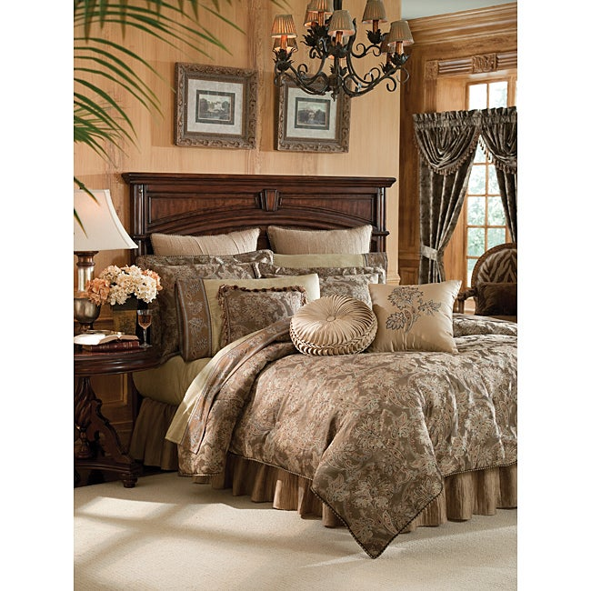 Crocill Botticelli Taupe California King-size 4-piece Comforter Set
