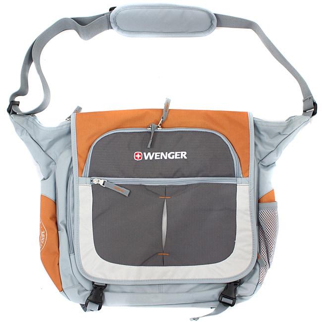 Wenger Swiss Gear Orange/Grey 15-inch Messenger Bag