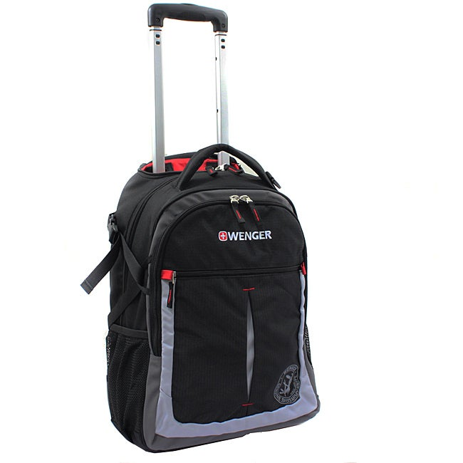 Wenger Swiss Gear Black/Grey 20-inch Rolling Carry-on Backpack - Thumbnail 0