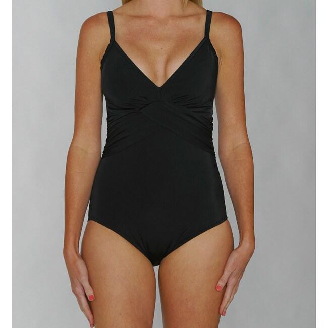 Jantzen Classics Black Twist Push-up Top 1-piece Swimsuit