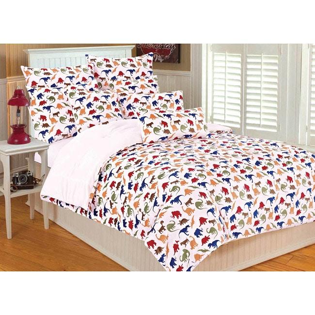 Microplush Dinosaur 3-piece Full/Queen-size Comforter Set ...