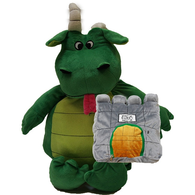 Shop Happy Nappers Green Dragon Pillow Free Shipping On