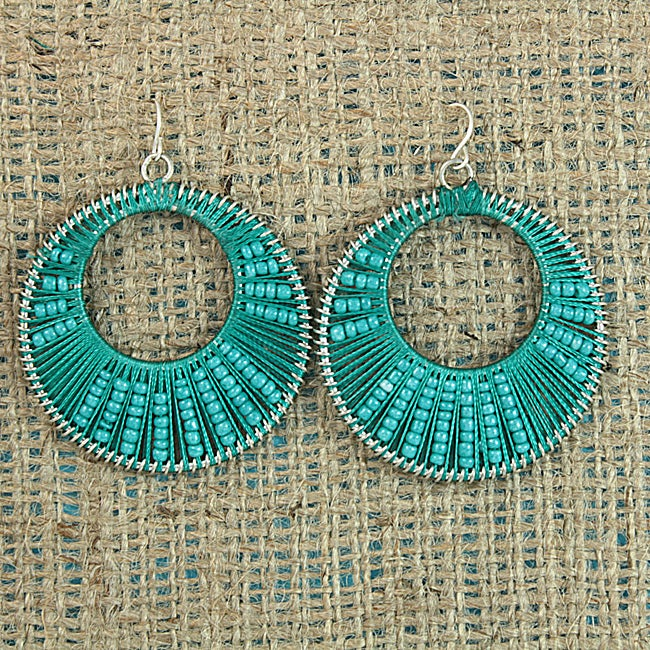 Handcrafted Turquoise 'Colorful Secrets' Earrings (Thailand)