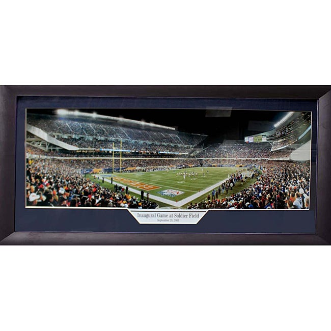 Chicago Bears 'Inaugural Game at Soldier Field' Panoramic Frame