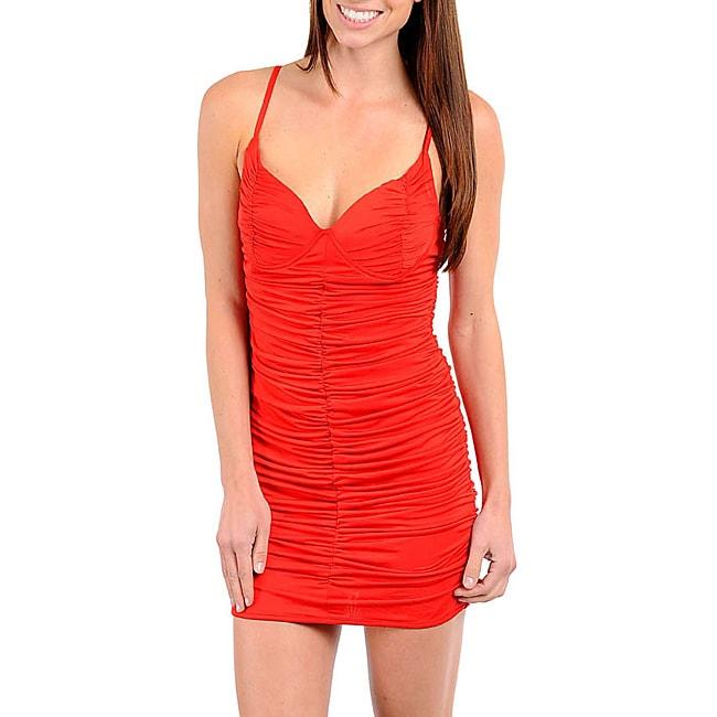 Stanzino Women's Red V-neck Dress
