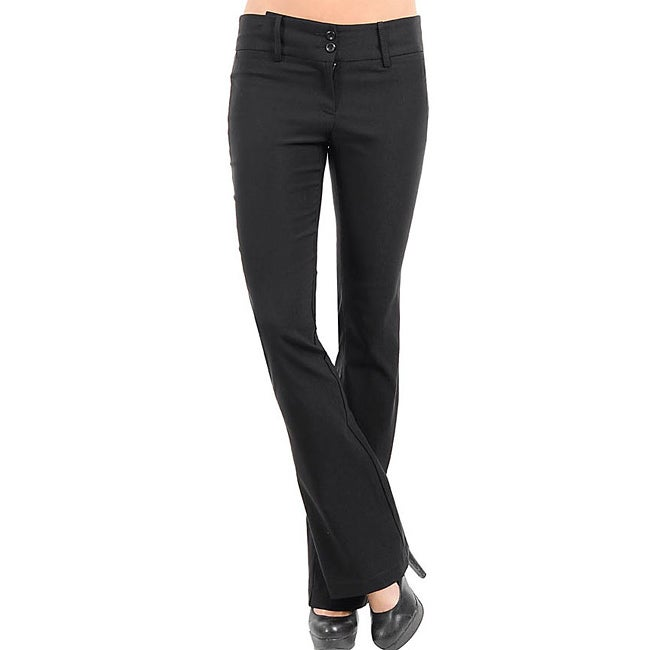 Stanzino Women's Black Flare-leg Pants