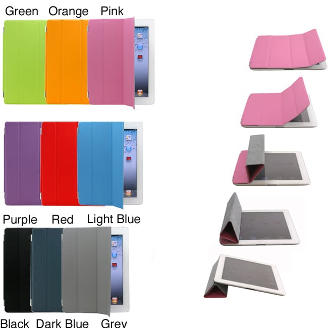 PU Magnetic Smart Slim Case Cover for Apple the New iPad /iPad 2