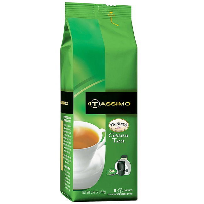 Twinings Green Tea T-Discs for Tassimo, 8-Count Package (Pack of 3)