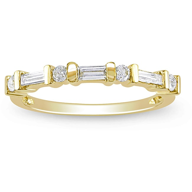10k Yellow Gold 1/3ct TDW Diamond Ring