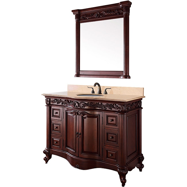 Wyndham Collection Eleanor 48-inch Cherry Single Bathroom Vanity